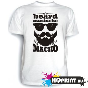 Футболка beard mustache macho