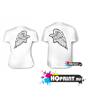 Парные футболки С крыльями