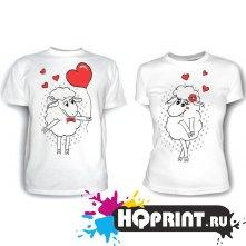 Парные футболки Влюбленные барашки