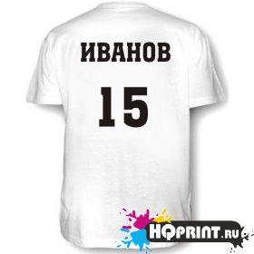 Футболка С номером и фамилией №1