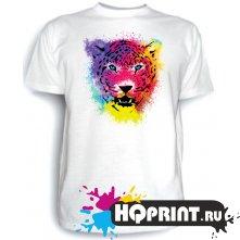 Футболка Леопард (цветной)