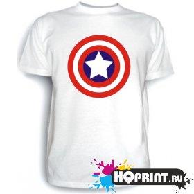 Футболка Капитан Америка (значок)