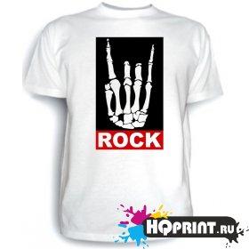 Футболка ROCK (скелет)