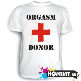 Футболка Orgasm donor