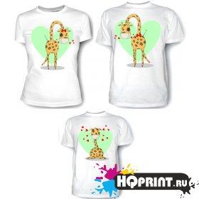 Комплект футболок Жирафы