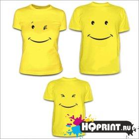 Комплект футболок Смайлики