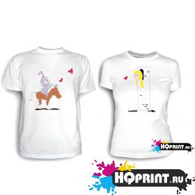 Парные футболки Рыцарь с принцессой