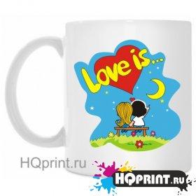 Кружка love is...(ночь)