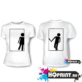 Парные футболки М и Ж 2