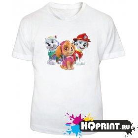 Детская футболка Щенячий патруль (Скай, Маршал, Эверест)
