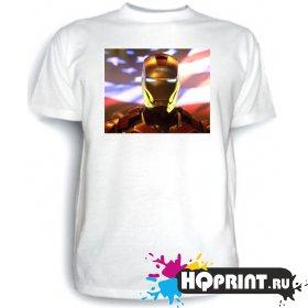 Футболка Железный человек (флаг)