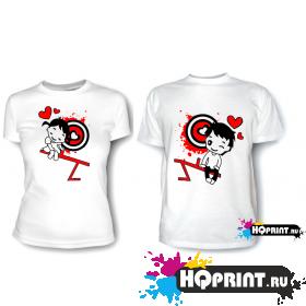 Парные футболки Мальчик с девочкой