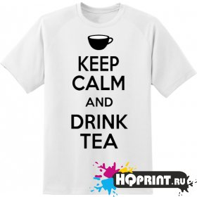 Футболка keel calm drink tea