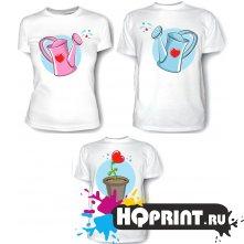 Комплект футболок Цветочек