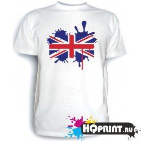 Футболка Британский флаг (клякса)
