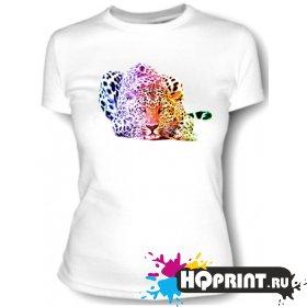 Футболка Цветной леопард