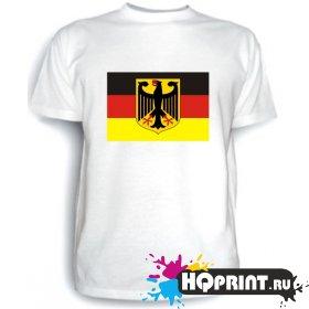 Футболка Герб  и флаг Германии
