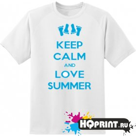 Футболка keel calm love summer