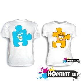 Парные футболки Паззл