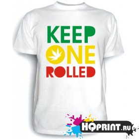 Футболка Keep one rolled